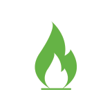 Gas icon -Green